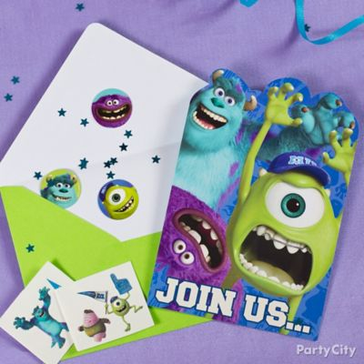 Monsters University Invite with Surprise Idea