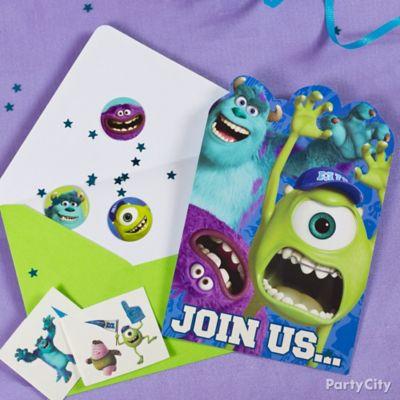 Monsters University Invite with Surprise Idea