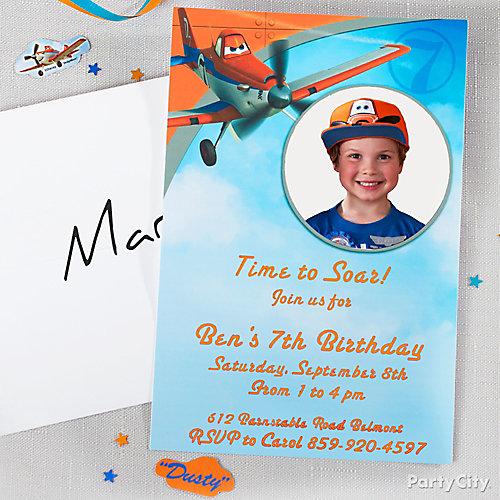 Planes Custom Invite Idea