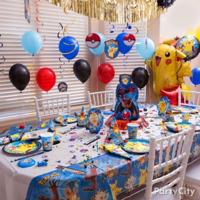 pokemon favor table idea party city. Black Bedroom Furniture Sets. Home Design Ideas