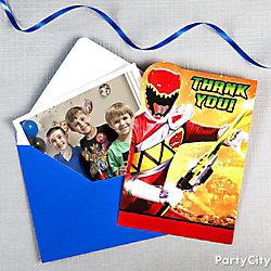 Power Rangers Thank You Note Idea