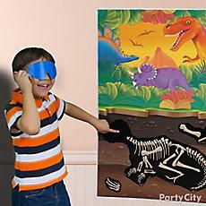 Prehistoric Dinosaur Pin-It Game Idea