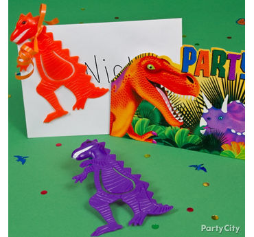 Prehistoric Dinosaur Invite with Favor Idea