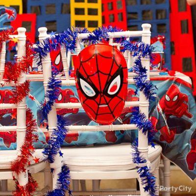 Spider Man Chair Deco DIY Table Decorating Ideas Spider Man