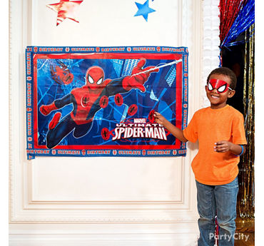 Spider Man Pin It Game Idea