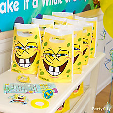 SpongeBob Favor Pack for 8 Idea