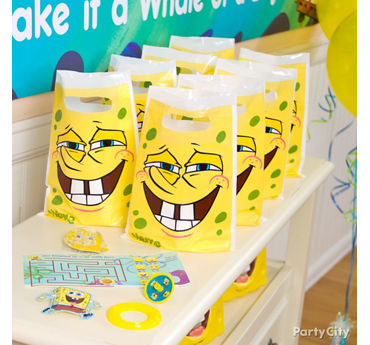 SpongeBob Favor Pack for 8 Idea