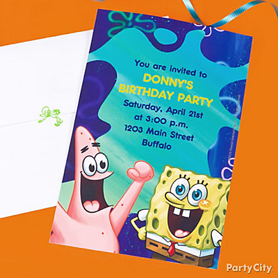 SpongeBob Custom Invite Idea