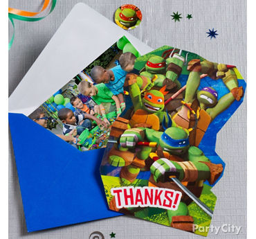 TMNT Thank You Note Idea