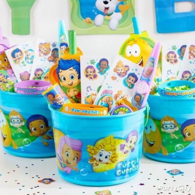 Bubble Guppies Favor Bucket Idea