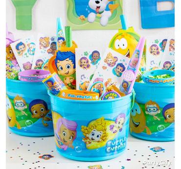 Bubble Guppies Favor Bucket Idea