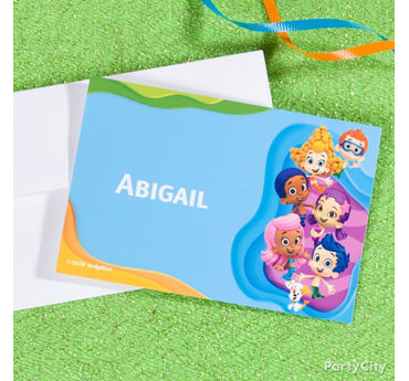 Bubble Guppies Thank You Note Idea