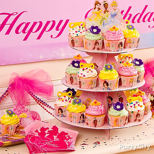 Disney Princess Cupcake Tower Idea