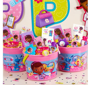Doc McStuffins Favor Bucket Idea