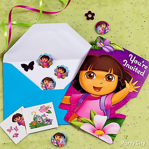 Dora Invite with Surprise Idea