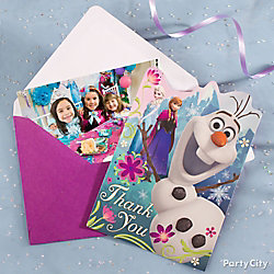 Frozen Thank You Note Idea