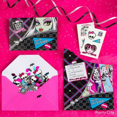 Monster High Invite with Surprise Idea