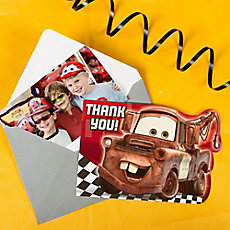 Cars Photo Thank You Note Idea