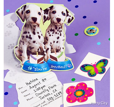 Party Pups Invite with Surprise Idea