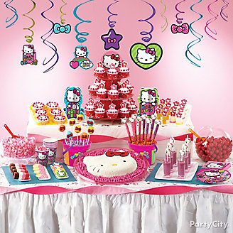 Hello Kitty Treats Table Idea