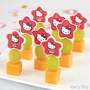 Hello Kitty Fruit and Cheese Kabobs How To