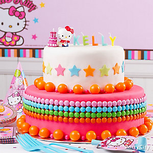 Hello Kitty Two Tiered Fondant Cake How To