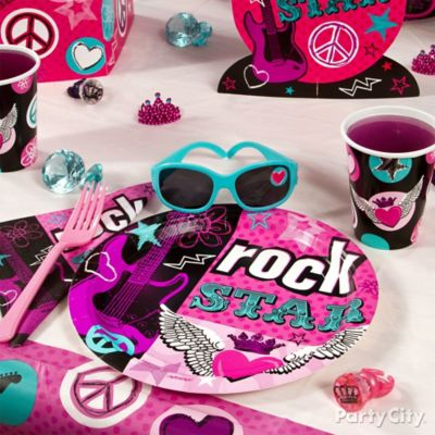 Rocker Girl Place Setter Idea