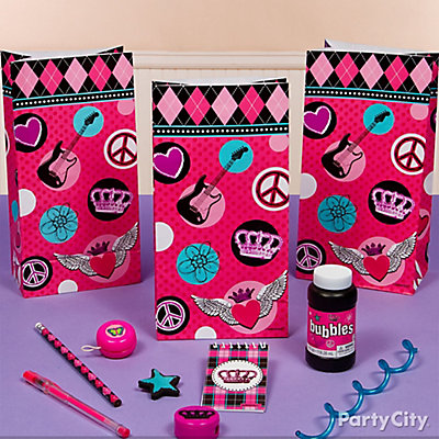 Rocker Girl Favor Pack for 8 Idea