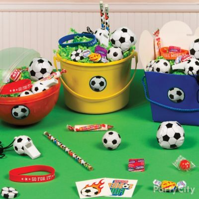 Soccer Favor Bucket Idea