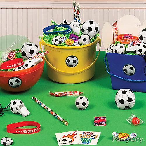 Soccer Favor Bucket Idea