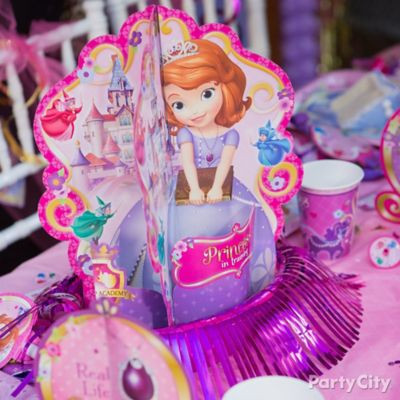 Sofia the First Centerpiece Idea