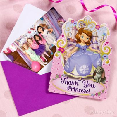 Sofia the First Thank You Note Idea