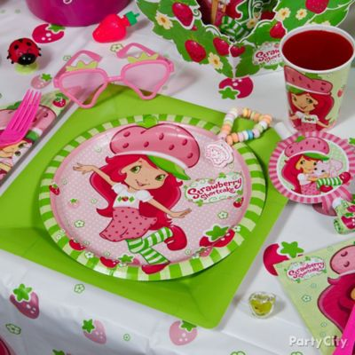 Strawberry Shortcake Place Setting Idea