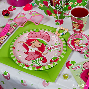 Strawberry Shortcake Place Setting Idea