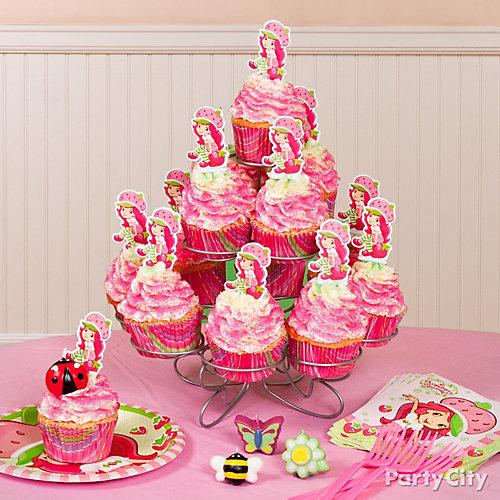 Strawberry Shortcake Cupcake Tower Idea