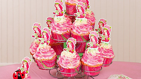 Strawberry Shortcake Cupcake Tower Idea