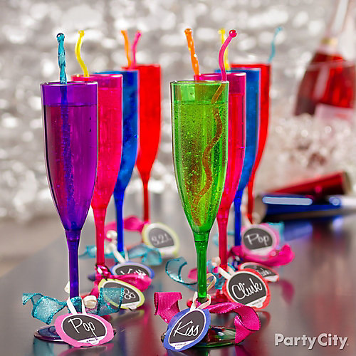 NYE Drink Charms Idea