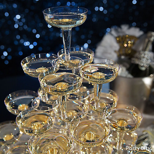 NYE Champagne Tower Idea