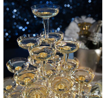 NYE Champagne Tower Idea