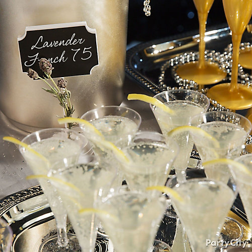 NYE Lavender French 75 Idea