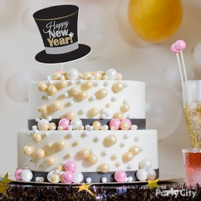 Cake New Years Eve 2018 : NYE Bubbly Cake How To - Party City