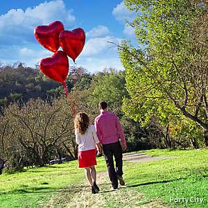 Giant Red Heart Balloons Idea