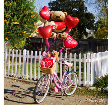 Valentines Day Teddy Bear Balloon Bouquet Idea