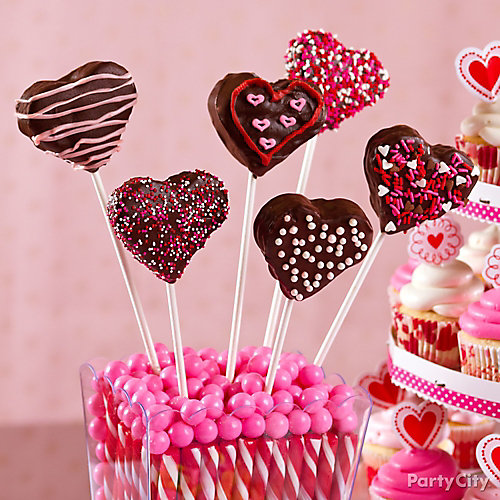 Valentines Day Heart Brownie Pops Idea