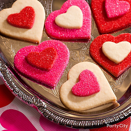 Valentine's Day Heart Layered Cookies Idea