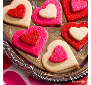 Valentines Day Heart Layered Cookies Idea