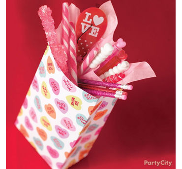 Valentines Day Candy Favor Bag Idea