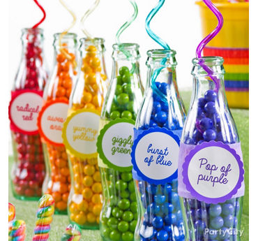 Rainbow Candy Soda Bottles How To