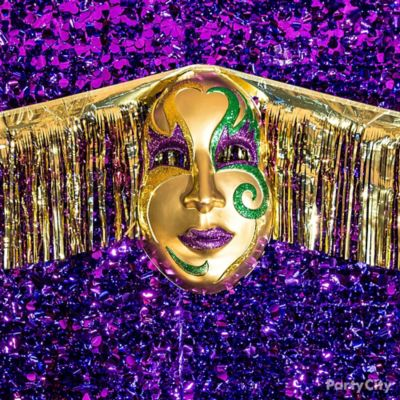 Mardi Gras Mask Wall Decorating Idea