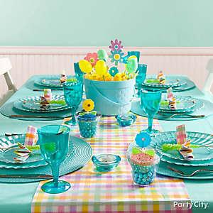 Blue Easter Table Idea